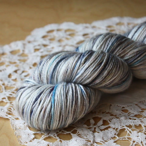 North Pole / Hand Dyed Yarn / Sportif Worsted Weight Ready to Ship