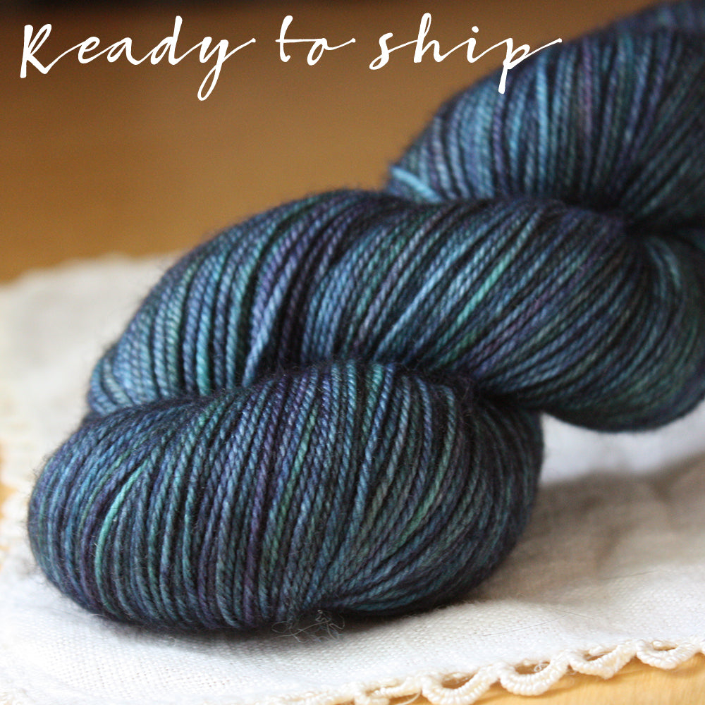 Alluree / Fingering Weight / Oberon Superwash Merino Cashmere Nylon Hand Dyed Yarn / Ready to Ship