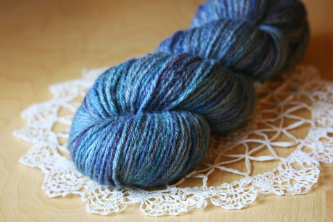 Lambe / DK Weight / Oceania OOAK Hand Dyed Yarn / Superwash Blue Faced Leicester Wool