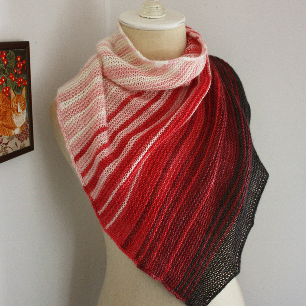 Offred Shawlette Knitting Pattern for Mini Skeins – Phydeaux Designs ...