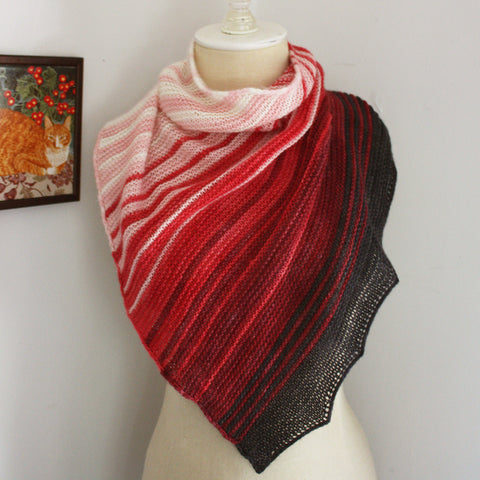 Offred Shawlette Knitting Pattern for Mini Skeins