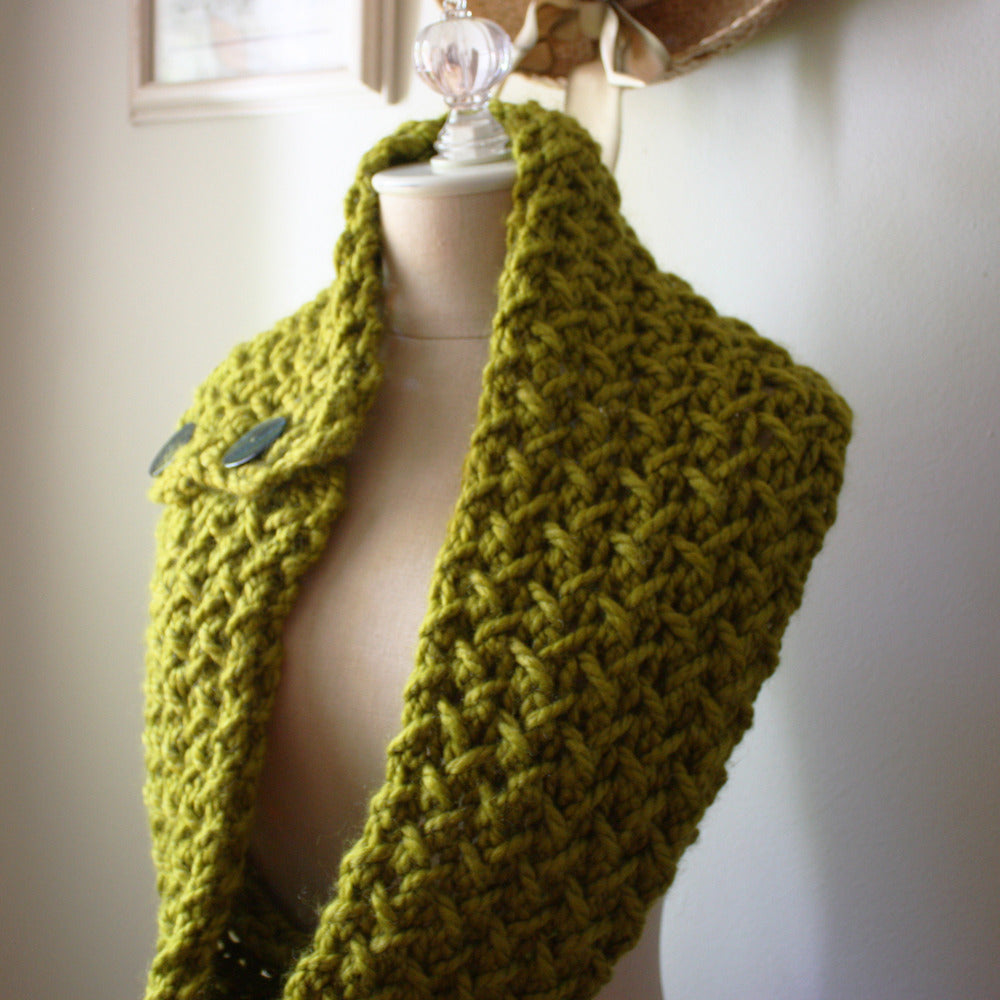 Embraceable Cowl Scarf Knitting Pattern Phydeaux Designs Fiber