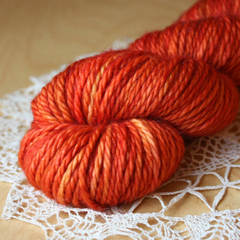 Beurre / Bulky Weight / Paprika Superwash Merino Wool / READY TO SHIP