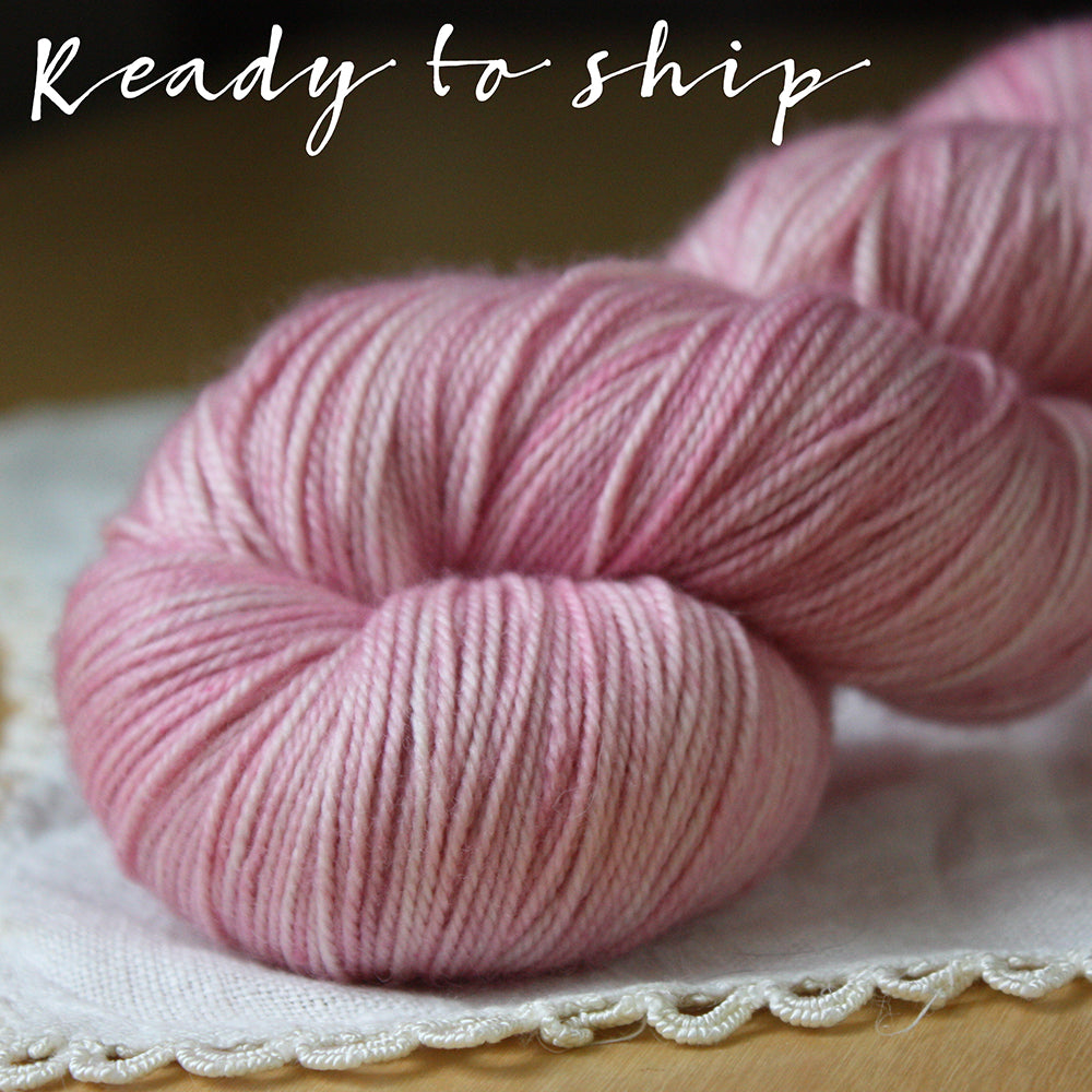 Alluree / Sock Weight / Peony Superwash Merino Cashmere Nylon Hand Dyed Yarn / Ready to Ship