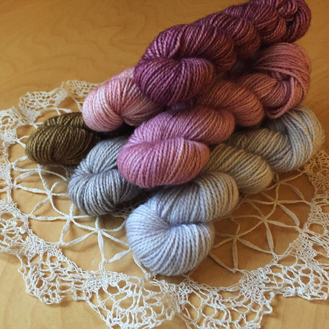 Mystery Mini Skeins / Hand Dyed Pride and Prejudice Mini Skeins Ready to Ship