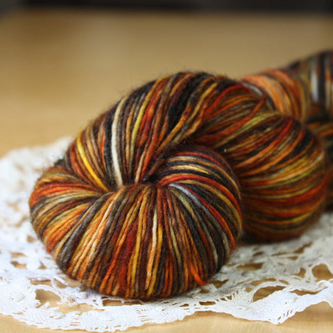Petite / Fingering Weight / Pumpkin Spice Superwash Merino Hand Dyed Yarn / READY TO SHIP