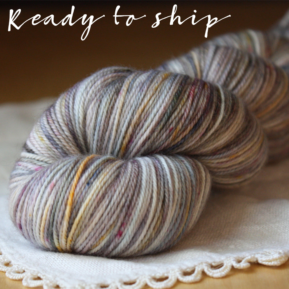 Alluree / Fingering Weight / Quicksilver Merino Wool Cashmere Nylon Hand Dyed Yarn / READY TO SHIP