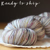 Beurre / Fingering Weight / Quicksilver Superwash Merino Wool Hand Dyed Yarn / READY TO SHIP