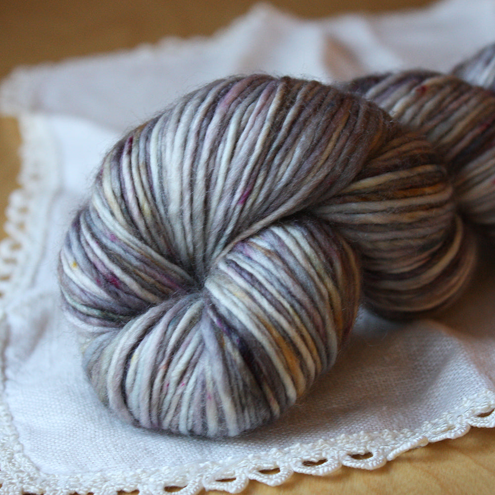 Petite / Worsted Weight / Quicksilver Superwash Merino Hand Dyed Yarn / READY TO SHIP