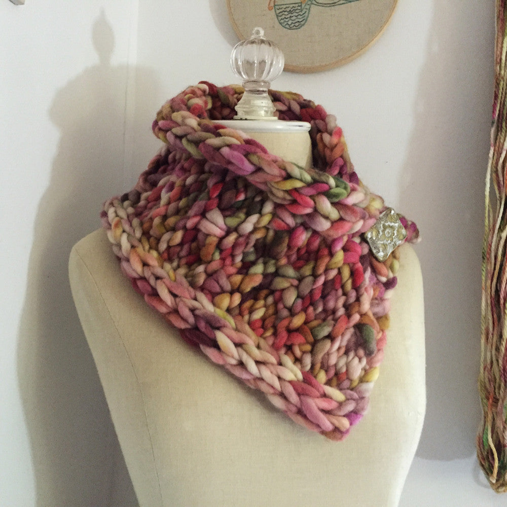 Rocheux Chunky Cowl Neckwarmer Knitting Pattern – Phydeaux Designs ...