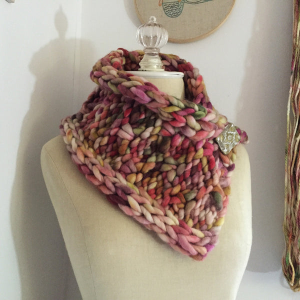Rocheux Chunky Cowl Neckwarmer Knitting Pattern Phydeaux Designs