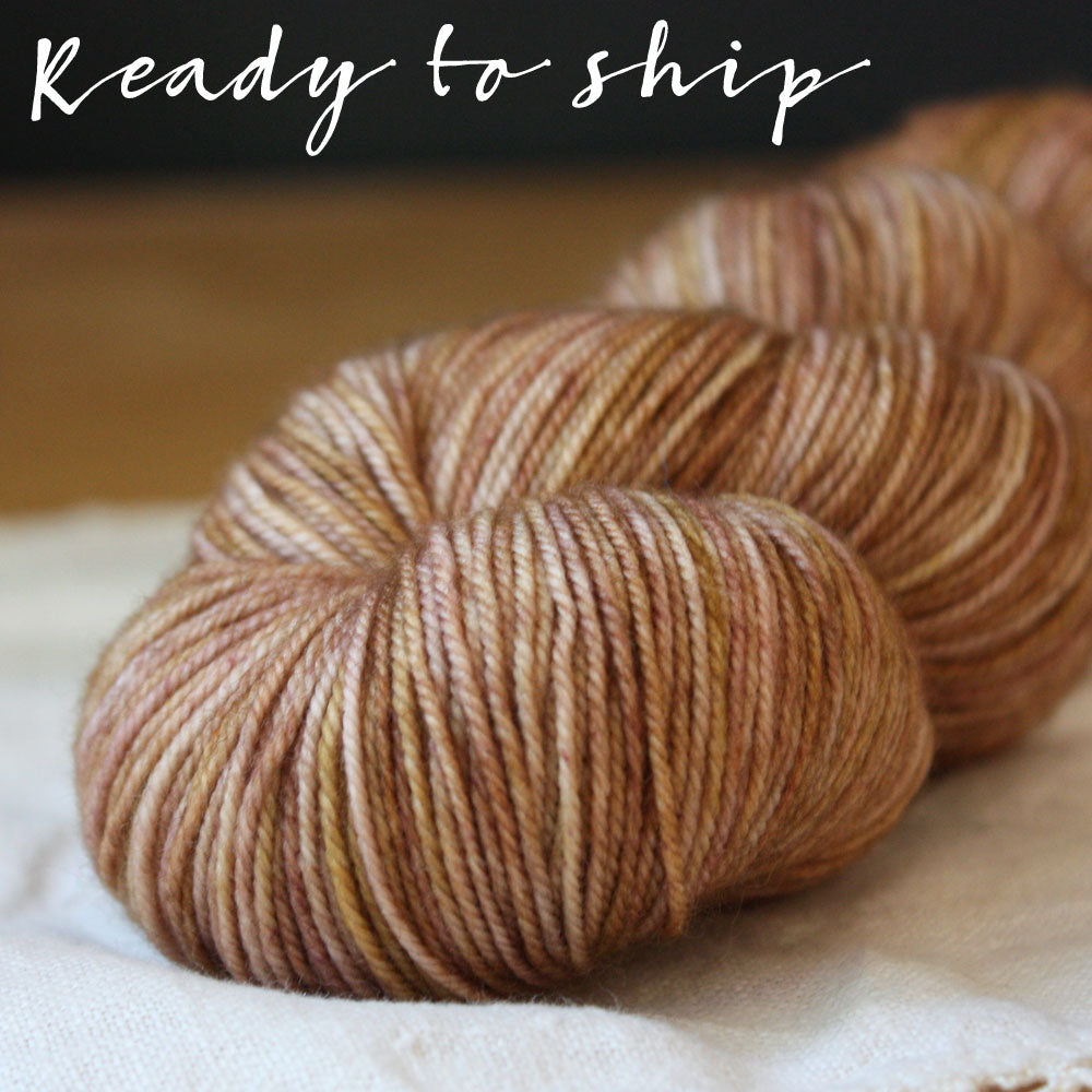 Alluree / Fingering Weight / Rosewood Superwash Merino Cashmere Nylon Hand Dyed Yarn / Ready to Ship