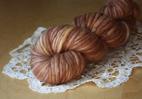 Coussin / Super Bulky Weight / Rosewood Merino Wool Hand Dyed Yarn