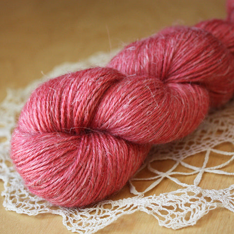 Aegypte / Fingering Weight / Rosy Baby Alpaca Silk Hand Dyed Yarn / Ready to Ship
