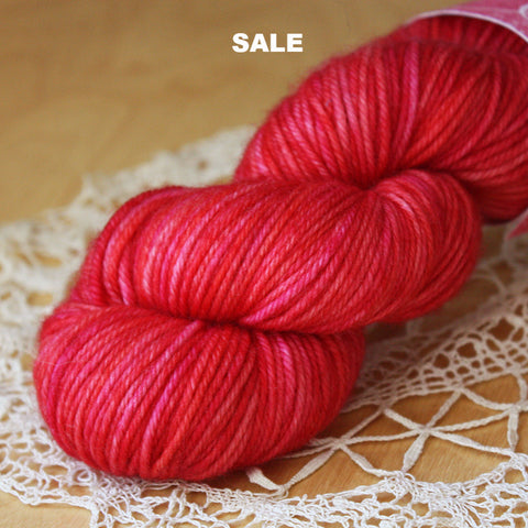 Beurre / DK Weight / SALE Rouge Superwash Merino Wool / READY TO SHIP
