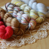 Mini Skeins / Rudolph Hand Dyed MCN Fingering or DK Weight / Ready to Ship