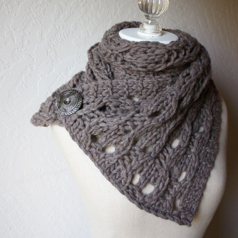 Rusticale Cowl / Wrap Knitting Pattern – Phydeaux Designs & Fiber