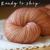 Alluree / Sock Weight / Spiced Peaches Superwash Merino Cashmere Nylon Hand Dyed Yarn / Ready to Ship