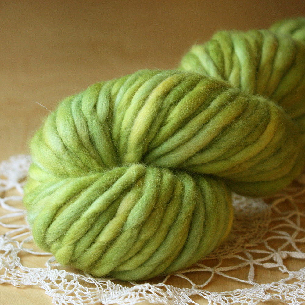 Coussin / Super Bulky Weight / Spring Leaf OOAK Merino Wool Hand Dyed Yarn