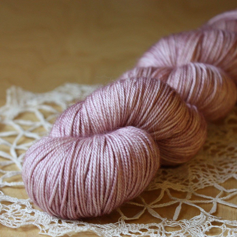 Alluree / Sock Weight / Sugared Plums Superwash Merino Cashmere Nylon Hand Dyed Yarn / Ready to Ship
