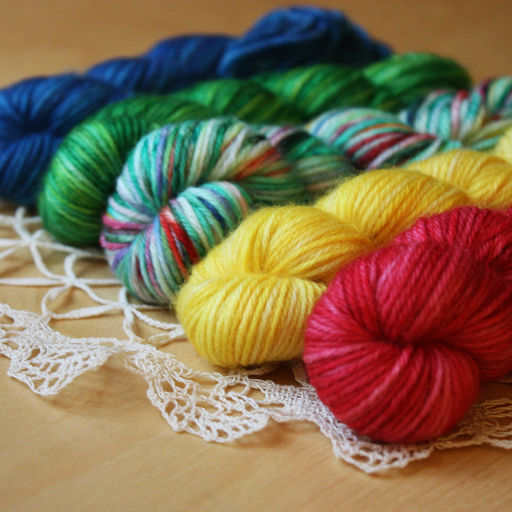 Mini Skeins / DK or Fingering Weight / Tannenbaum / Hand Dyed MCN / Ready to Ship