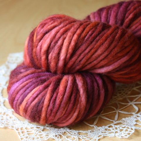 Coussin / Super Bulky Weight / Titian Merino Wool Hand Dyed Yarn