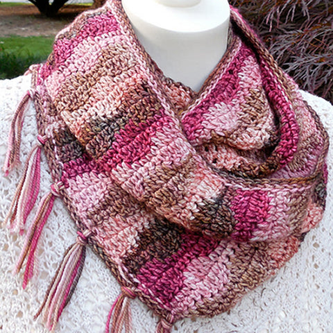 Turn and Wave Infinity Cowl Crochet Pattern