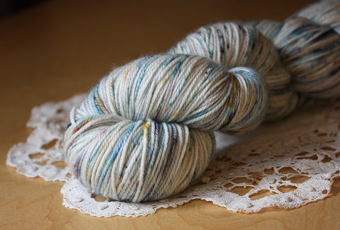 Caresse / Fingering Weight / Toile Merino Wool Cashmere Nylon Hand Dyed Yarn / READY TO SHIP