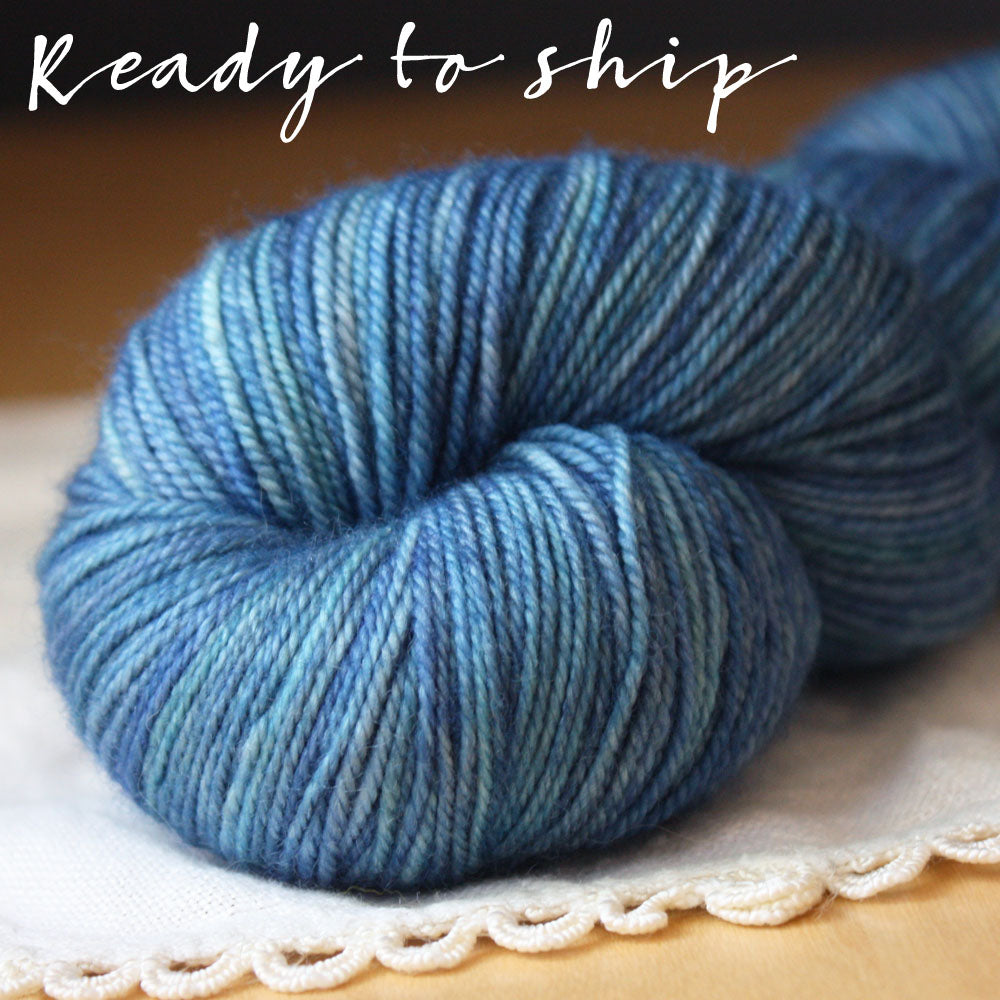 Alluree / Fingering Weight / Velvet Coat Superwash Merino Cashmere Nylon Hand Dyed Yarn / Ready to Ship