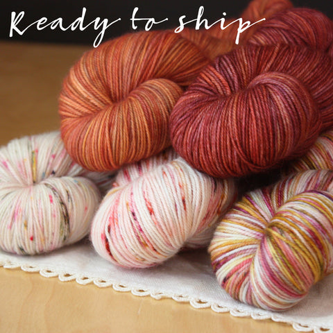 Five Full Skein Gradient Set / One of a Kind / Hand Dyed Yarn Superwash MCN Fingering Weight 2100 yards