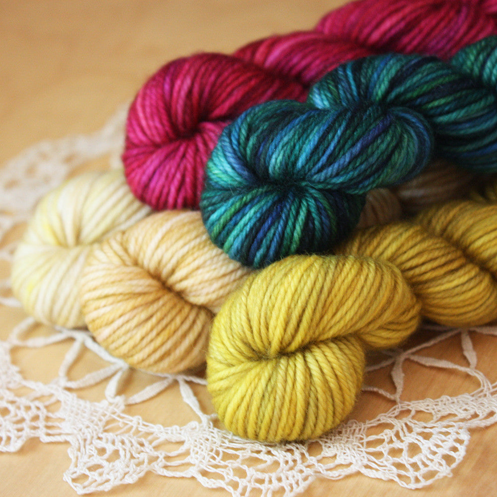 Mini Skeins / Three Kings Hand Dyed MCN Fingering or DK Weight / Ready to Ship