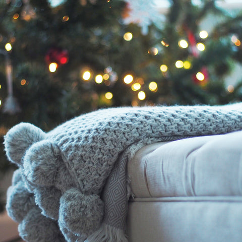 Cosy blanket and Christmas tree
