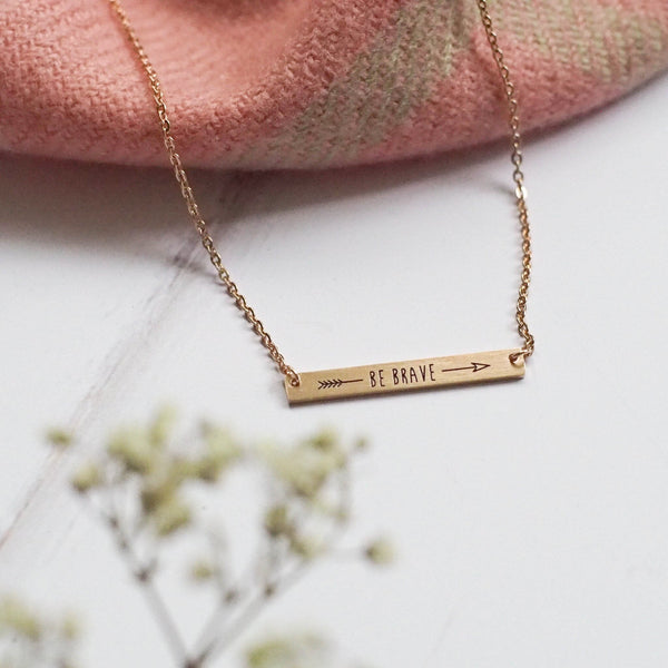 Be Brave necklace in rose gold