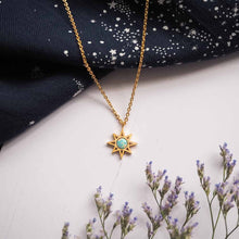 Opal North Star Necklace in Gold