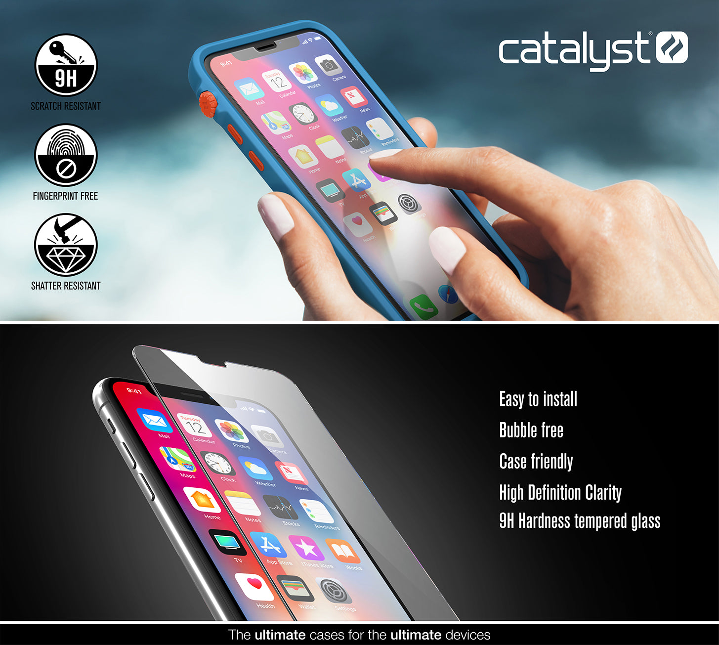5dcc4f50a3bf17 Buy Catalyst® Tempered Glass Screen Protector for iPhone X/Xs ...
