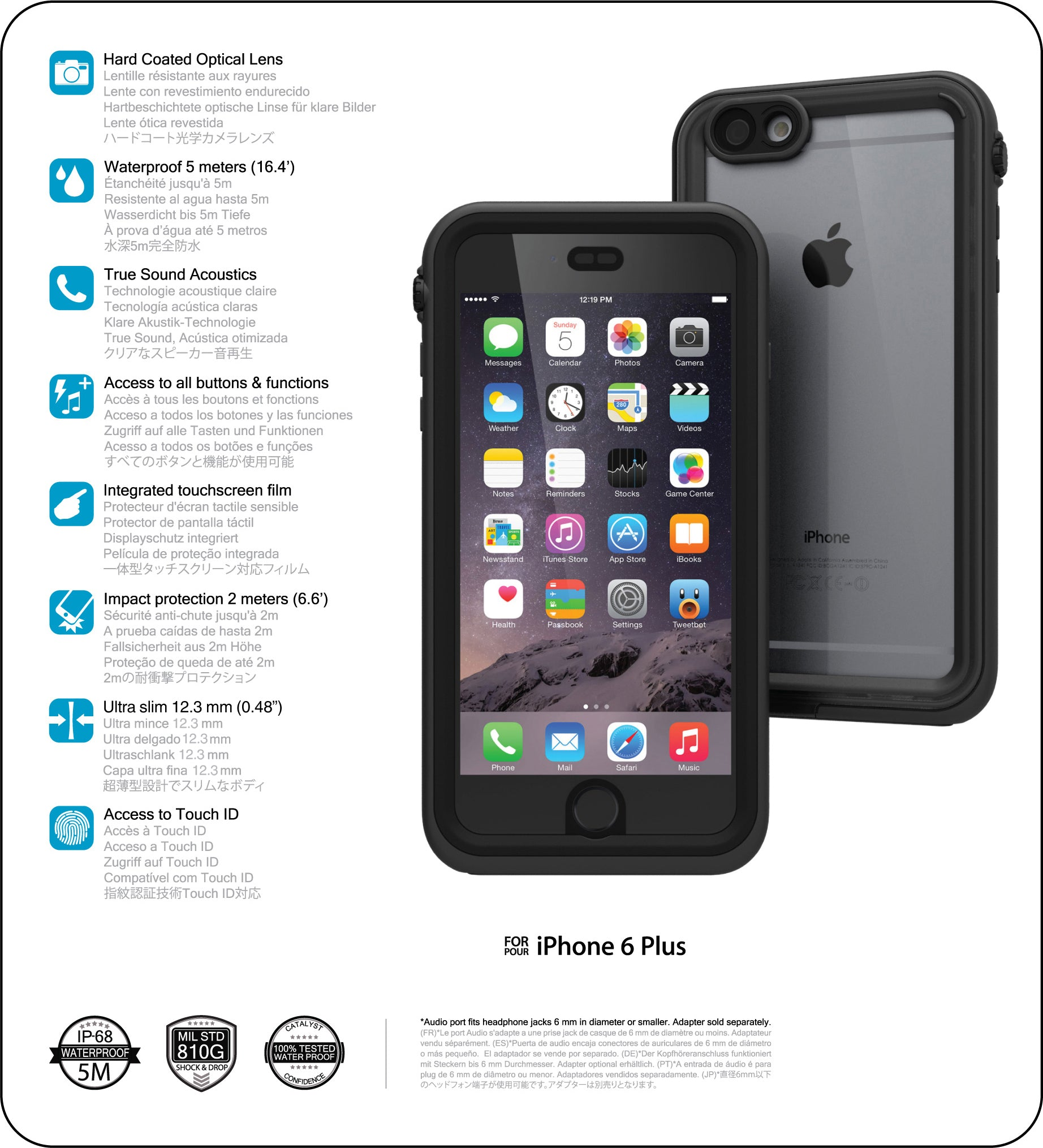 iphone y plus. catalyst case for iphone 6 plus/ 6s plus technical specifications iphone y o