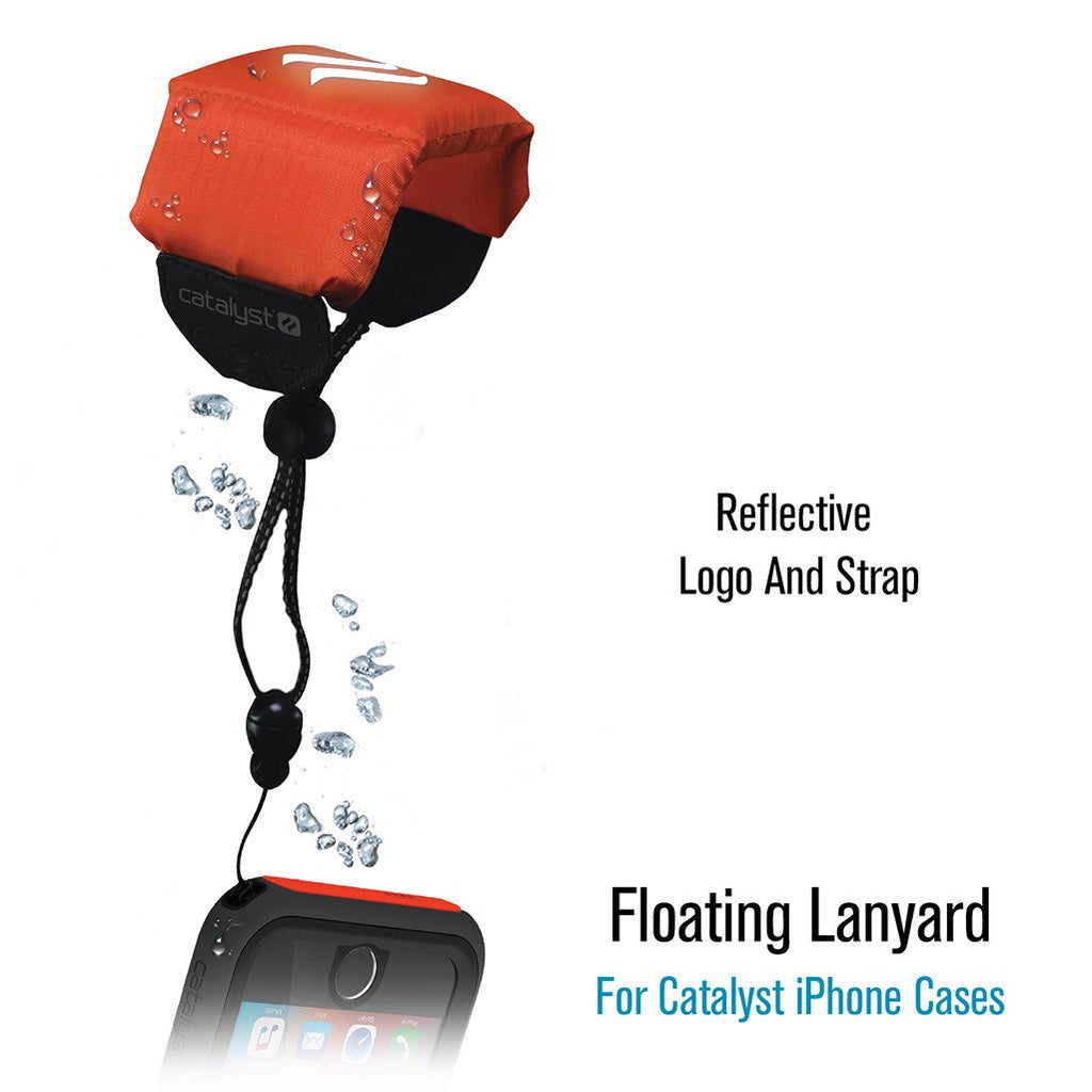 Orange Floating Lanyard Reflective for Phone or Other Device by Catalyst