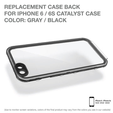 CATBACBLK6 | Replacement Case Back for Catalyst Case for iPhone 6/ 6s