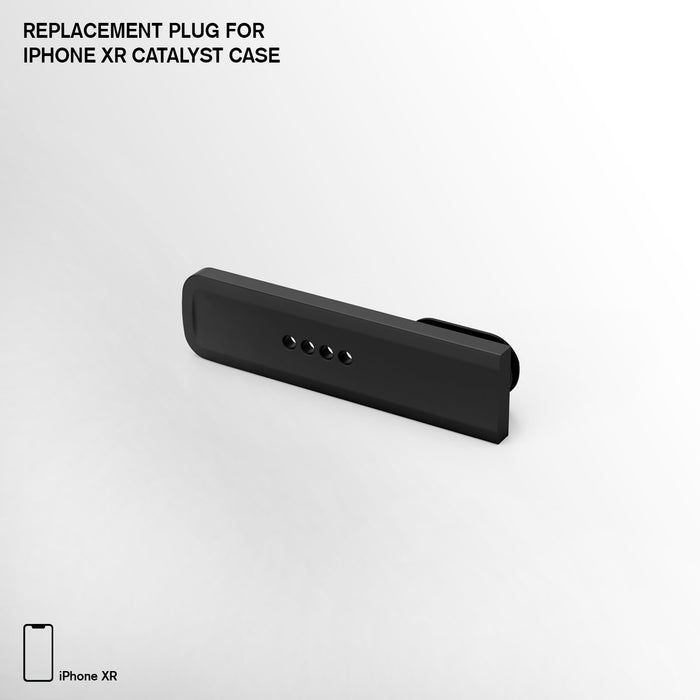 CATPGBLKXM | Replacement Plug for Catalyst Case for iPhone XR