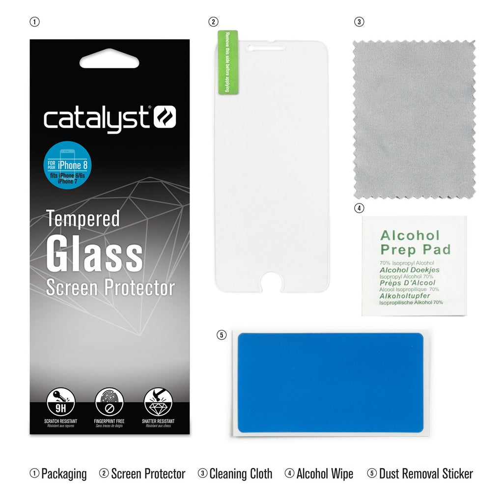 Tempered Glass Screen Protector for iPhone 8