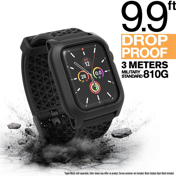 CAT40DROP5BLK | Impact Protection Case V2 for Apple Watch Series 5 & 4 - 40mm
