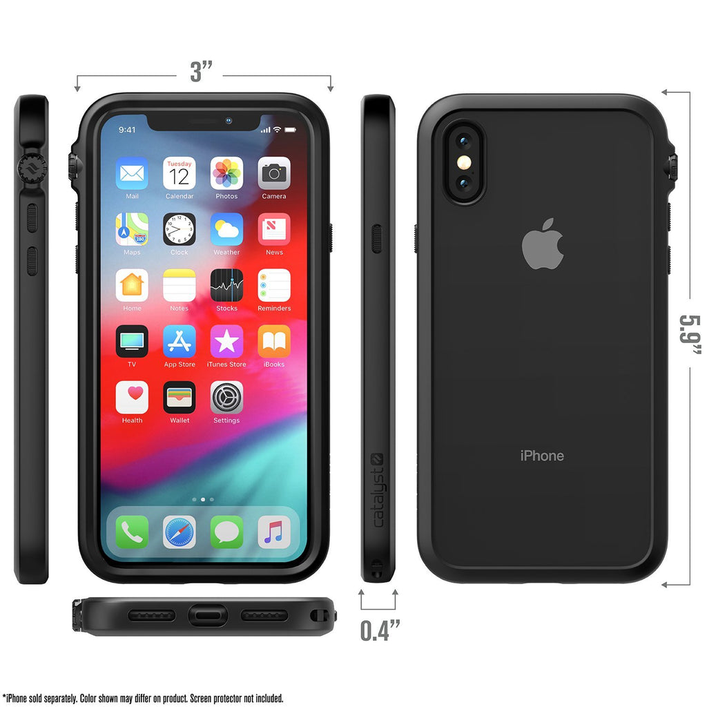 Catalyst IPhone X Waterproof Cover (Black) - Catalyst - Brands
