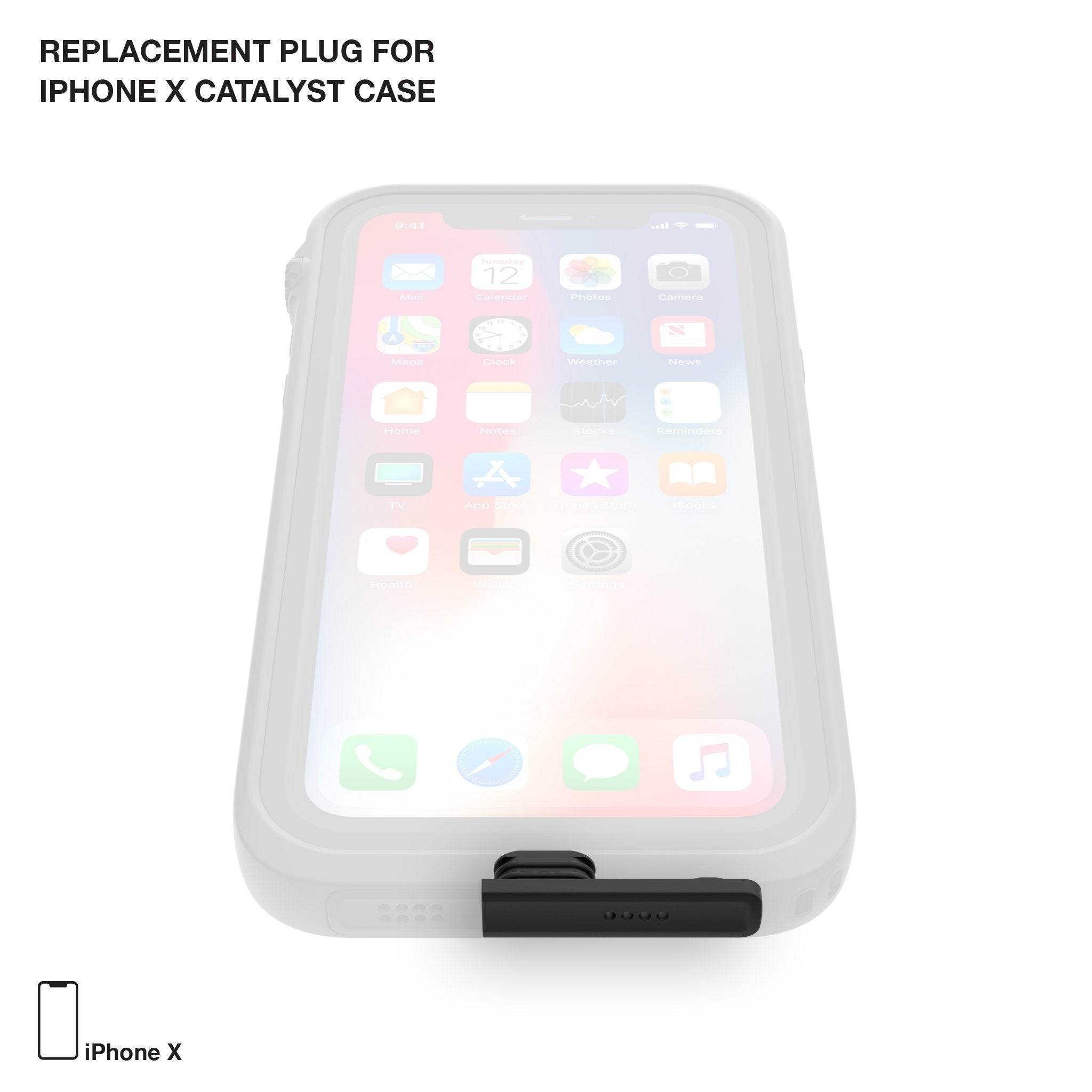 new arrival f37ca 46569 Replacement Plug for Waterproof Case for iPhone X and Xs
