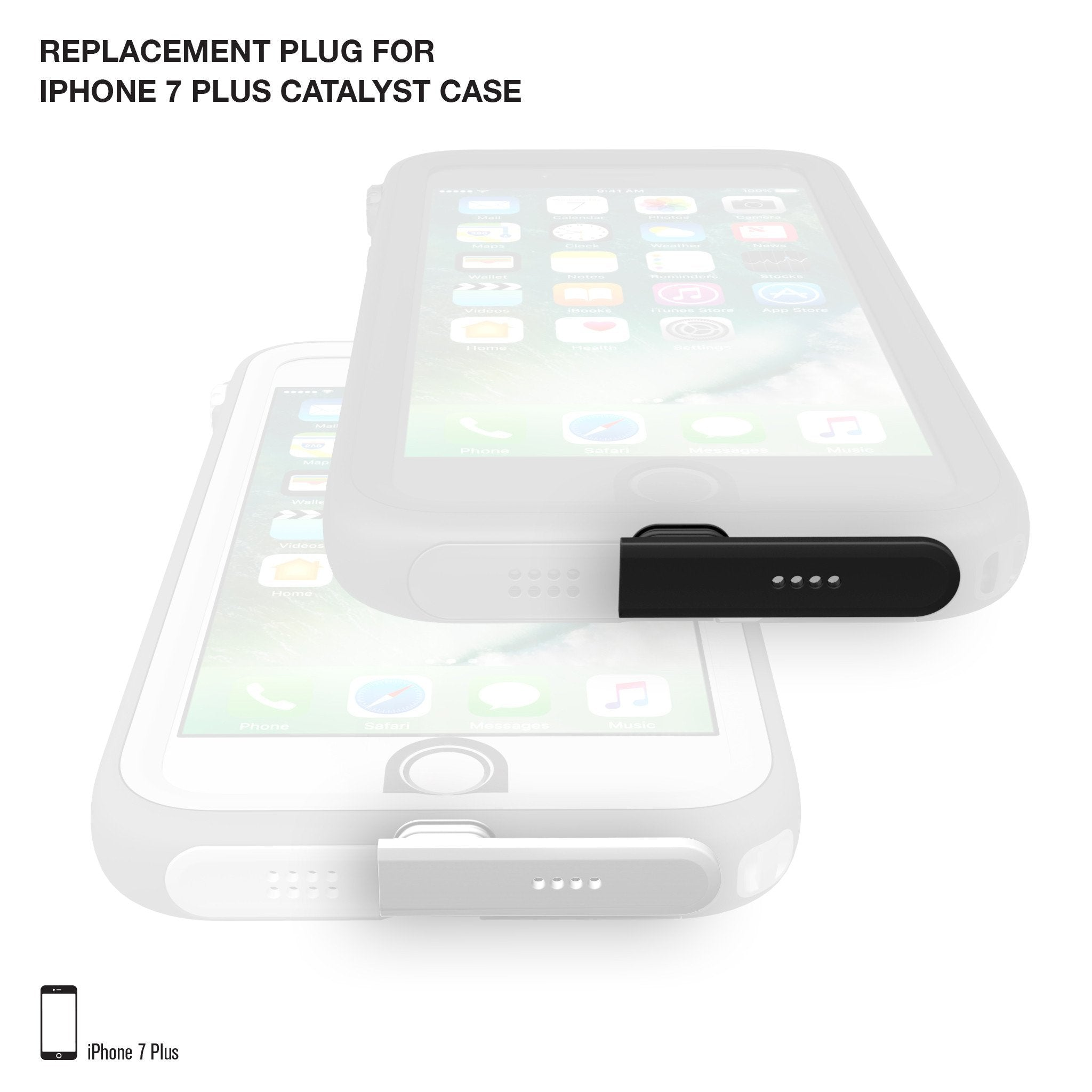 on sale f2de2 bcb5e Replacement Plug for Waterproof Case for iPhone 7 Plus/8 Plus