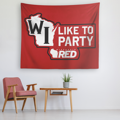 WI Like To Party Tapestry
