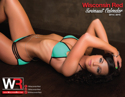 Wisconsin Red Swimsuit Calendar 2014 | 2015