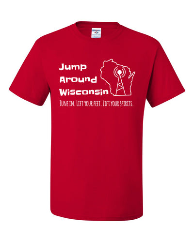 Jump Around Wisconsin - Tune in T-Shirt