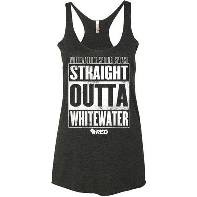 Whitewater: Spring Splash - Straight Outta Whitewater Racerback Tank