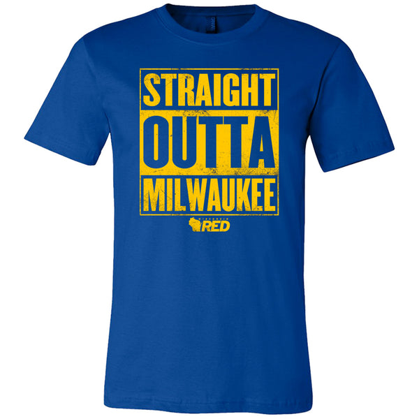straight outta milwaukee t shirt wisconsin red