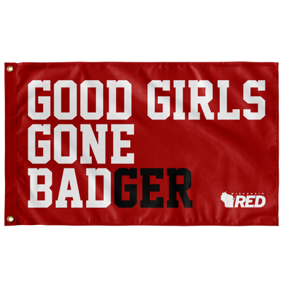 Good Girls Gone BADger Flag (Red)